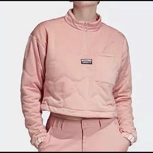 ADIDAS CROPPED TOP / cropped sweater pink XS